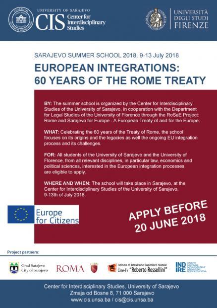 Applications Call For The Summer School European Integration 60