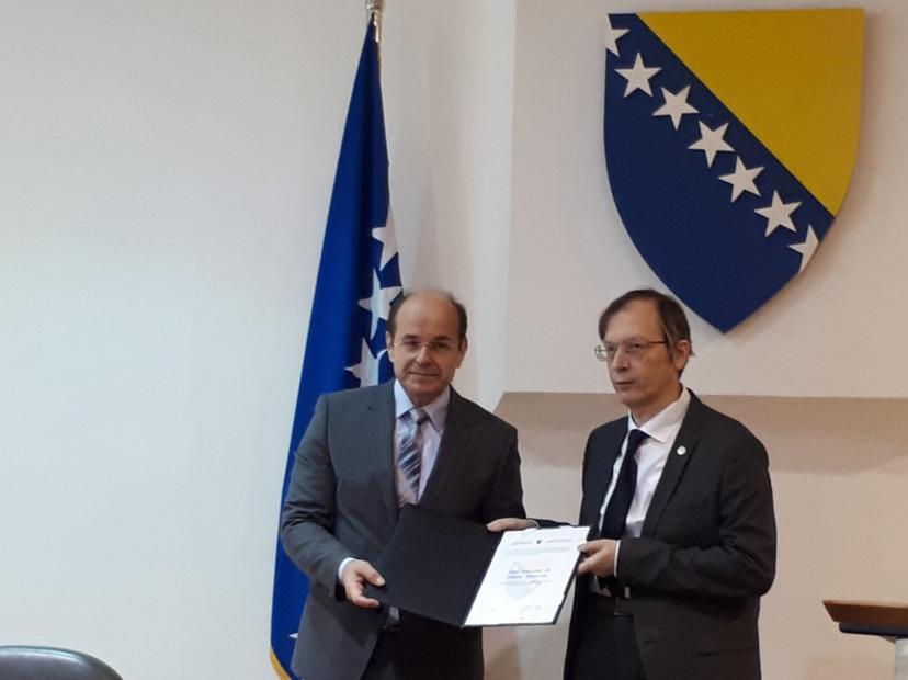 Akademik prof. dr. Dejan Milošević dobitnik državne nagrade u oblasti nauke za uspjehe na međunarodnom planu